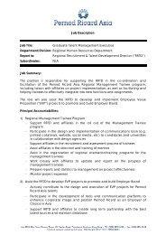 Job Description Job Title: Graduate Talent Management Executive ...