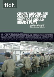china's workers are calling for change what role should ... - FIDH