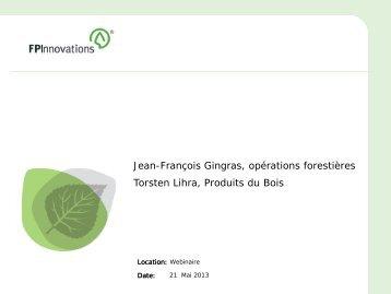 Survol du secteur industriel des bois et produits feuillus, Jean ...