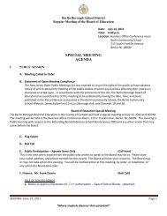 Public Agenda: July 14, 2011 - Berlin Community School