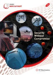 ST8100 Securnet, Integrated Security Management ... - ST Electronics