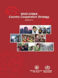 China-WHO Country Cooperation Strategy 2008-2013