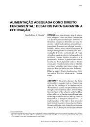 ALimENTAÇÃo ADEQuADA Como DirEiTo ... - Reid.org.br