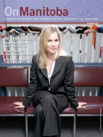 in this issue: jennifer jones - Canadian Curling Association