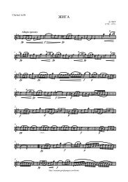 cresc. - Clarinet Institute Home Page