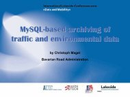 MySQL-Based Archiving of Traffic and Environmental Data