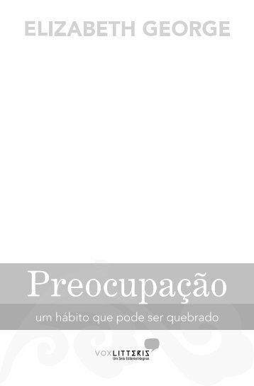 Preocupação - Editora Hagnos