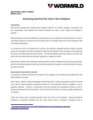 Assessing electrical fire risks in the workplace - Wormald New Zealand