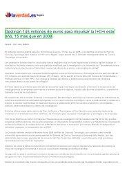 Destinan 145 millones de euros para impulsar la I+D+i este año, 15 ...