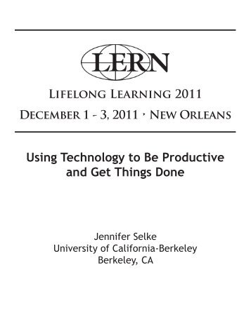 Using Technology to Be Productive and Get Things Done