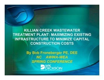 Killian Creek WWTP - NC AWWA-WEA