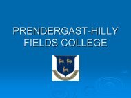 PRENDERGAST-HILLY FIELDS COLLEGE - Runnymede Trust