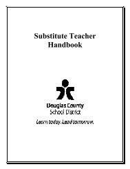 Substitute Teacher Handbook - Douglas County School District