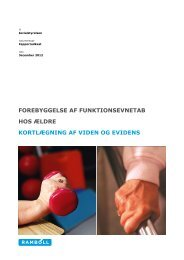 forebyggelse af funktionsevnetab hos ældre ... - Socialstyrelsen
