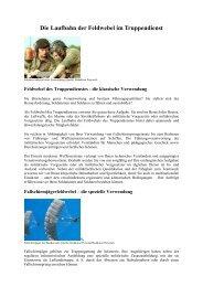 Die Laufbahn der Feldwebel im Truppendienst
