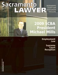 January / February 2009 - Sacramento County Bar Association