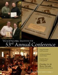 53rd Annual Conference - Woodwork Institute