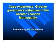 G2 MACHUMELE Case study Tzaneen - ICLEI World Congress 2006