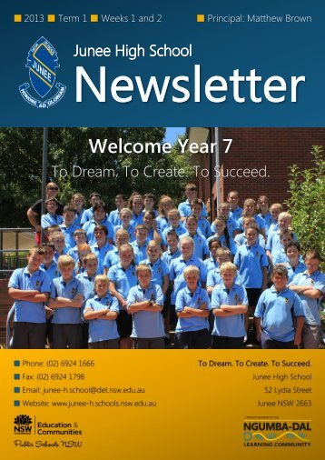 No 1 Newsletter February 2013 - Junee High School