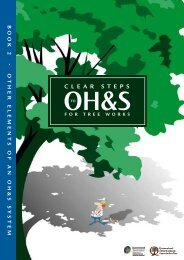 Clear steps to OH&S for tree works Book 2 - Other elements of an ...