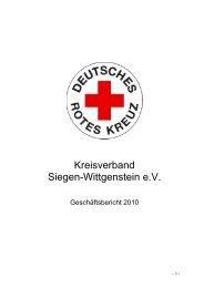 Geschäftsbericht 2010 - DRK-Kreisverband Siegen-Wittgenstein