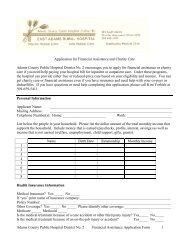 Financial Assistance Application