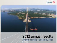 VINCI - 2012 annual results presentation
