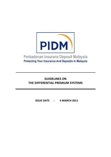 Guidelines on the Differential Premium Systems - PIDM