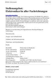 Stellenangebot: Elektroniker/in aller Fachrichtungen