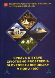 Správa o stave životného prostredia Slovenskej republiky v roku 1997