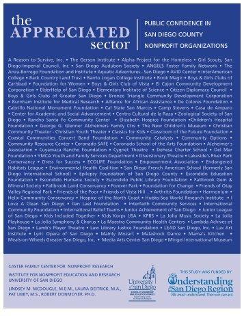 public confidence in san diego county nonprofit organizations