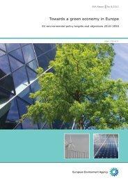 Towards a green economy in Europe — EU environmental ... - KoWi