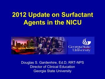 2012 Update on Surfactant Agents in the NICU - Foocus