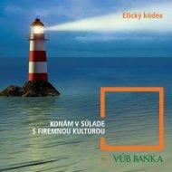 Etický kódex - VÚB banka