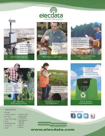 Elecdata Line Card listing products and services. - Electronic Data ...