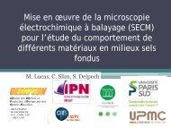 Mise en œuvre de la microscopie électrochimique à ... - gedepeon