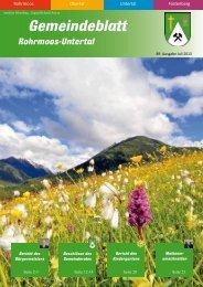 Ausgabe 3/2013 - Gemeinde Rohrmoos-Untertal