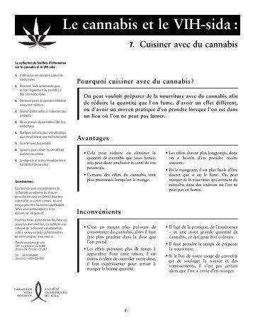 Cuisiner avec du cannabis - Canadian AIDS Society