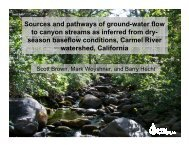 Sources and pathways of ground-water flow to canyon streams as ...