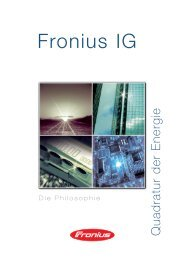 Fronius IG - Photovoltaik