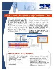 Études de réseaux de transport d'énergie et - Cyme International