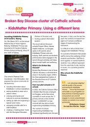 KidsMatter Primary: Using a different lens Broken Bay Diocese