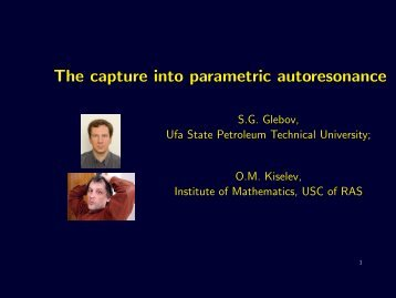 The capture into parametric autoresonance