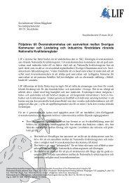 Brev till Socialdepartementet om överenskommelsen (pdf, nytt ... - LIF