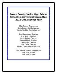 Brown County Junior High School - Brown County Schools