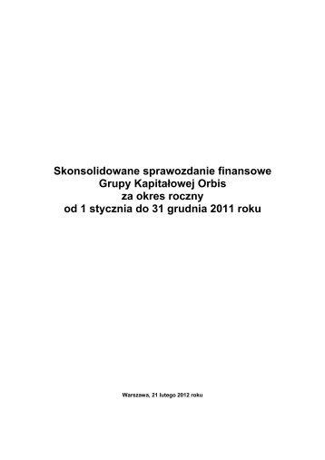 Skonsolidowane sprawozdanie finansowe Grupy ... - Parkiet