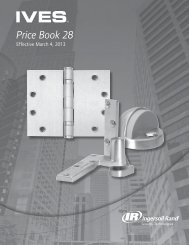 IVES MARCH 2013 PRICE BOOK.pdf - Access Hardware Supply