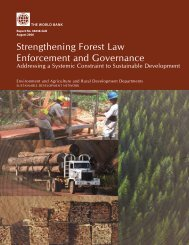 Strengthening Forest Law Enforcement and Governance