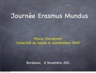 Pascal Chardonnet Université de Savoie & coordinateur IRAP ...