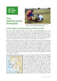Peru: Antworten auf den Klimawandel - Welthungerhilfe